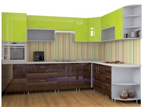 купить кухню угловую High Gloss 3000х2100 мм в киеве украине